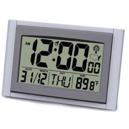 "Sonnet 2"" LCD Digital Atomic Time / Date / Temperature Desk Clock T-4685"