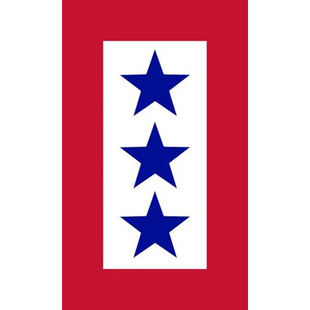 3 BLUE STARS Service Sticker (military army flag served)