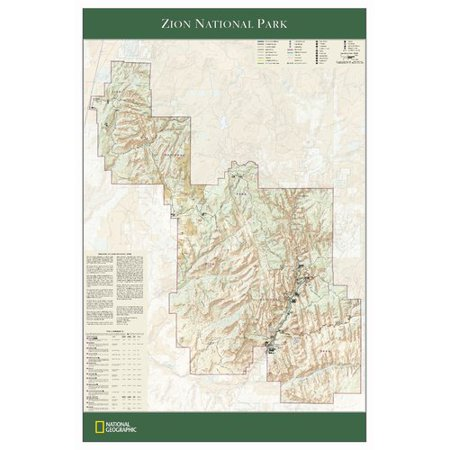 National Geographic Maps Zion National Park Wall Map - Walmart.com