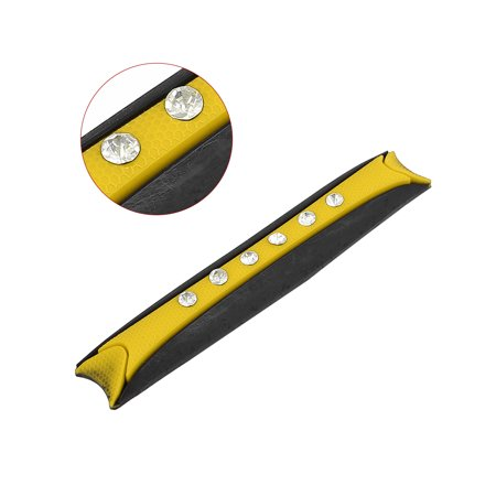 4pcs Yellow Rubber Car Faux Diamond Side Door Edge Guard Protector Anti Scratch - image 3 de 4