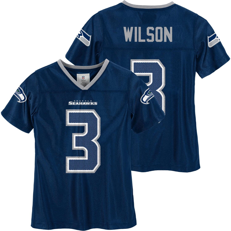 NFL - NFL Seattle Seahawks Girls Russell Wilson Jersey - Walmart.com