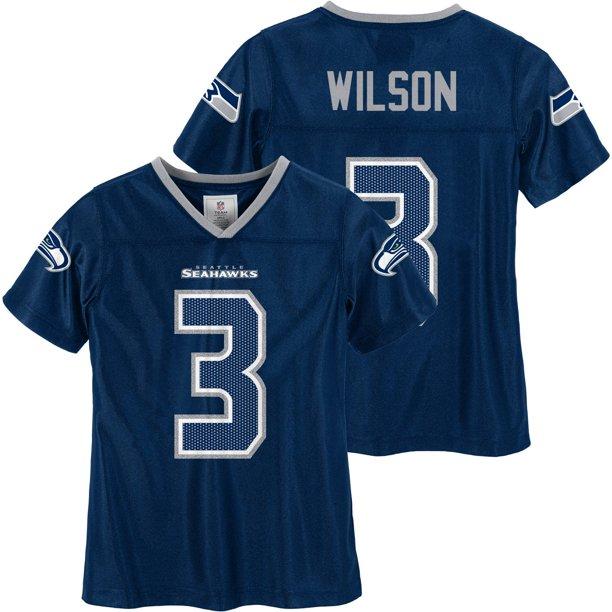 NFL Seattle Seahawks Girls Russell Wilson Jersey
