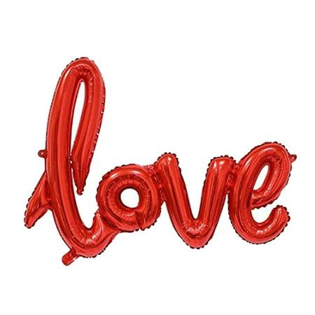 Unique Bargains Foil LOVE Balloon Wedding Anniversary Celebration Decoration - Love Wedding Decorations