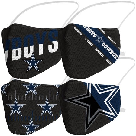 Dallas Cowboys Fanatics Branded Adult Variety Face Covering 4-Pack
