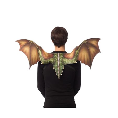 Soft Feel Dragon Wings Adult Costume Accessory, Green](Costume Dragon Wings)