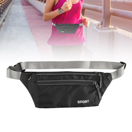 Waist Bag, EEEKit 3-Pockets Men Women Waterproof Sports Running Waist Bag Fanny Pack Zip Pouch for Camping, Running, Cycling, Jogging, Hiking (Womens Running Pack)