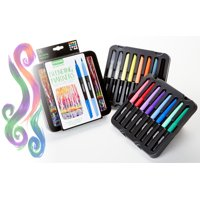 Crayola Signature Blending Markers With Decorative Tin, 16 Count