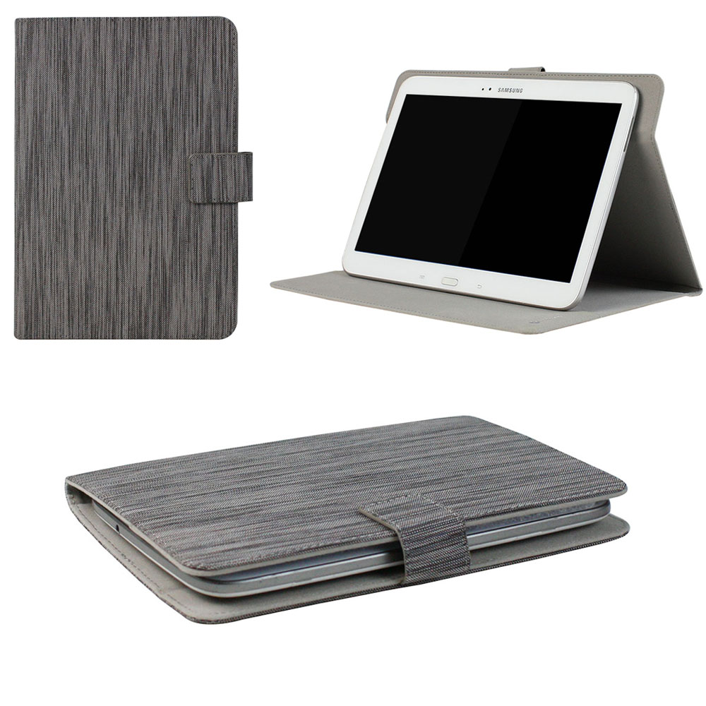"JAVOedge Gray Stripe Pattern Universal Book Case for 7-8"" Tablets, iPad Mini, Samsung Tab, Nexus 7, Nook HD and More"