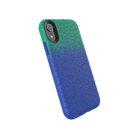 new product 4e750 a7158 Speck Candyshell Fit Case for iPhone XR, Evergreen Ombre Blueberry/Blue