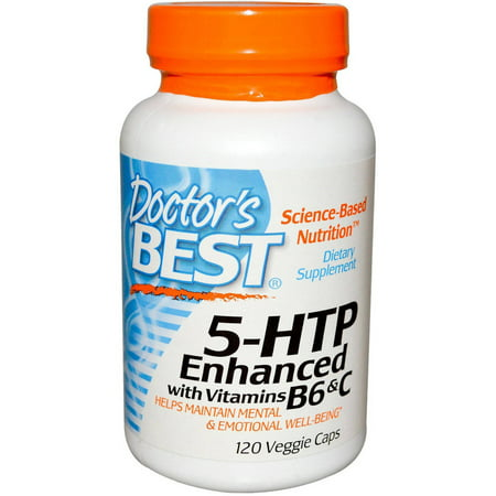 Doctor's Best 5 HTP w / Vitamine B6 et C, 120 CT
