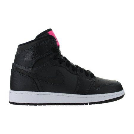Kids Air Jordan 1 Retro High GS Anthracite Hyper Pink Black 332148-004 bfb1a190c
