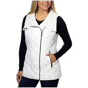Andrew Marc Marc New York Womens Quilted Vest (X-Small, White)