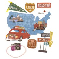 Jolee's Boutique 3D Road Trip Stickers, 9 Piece