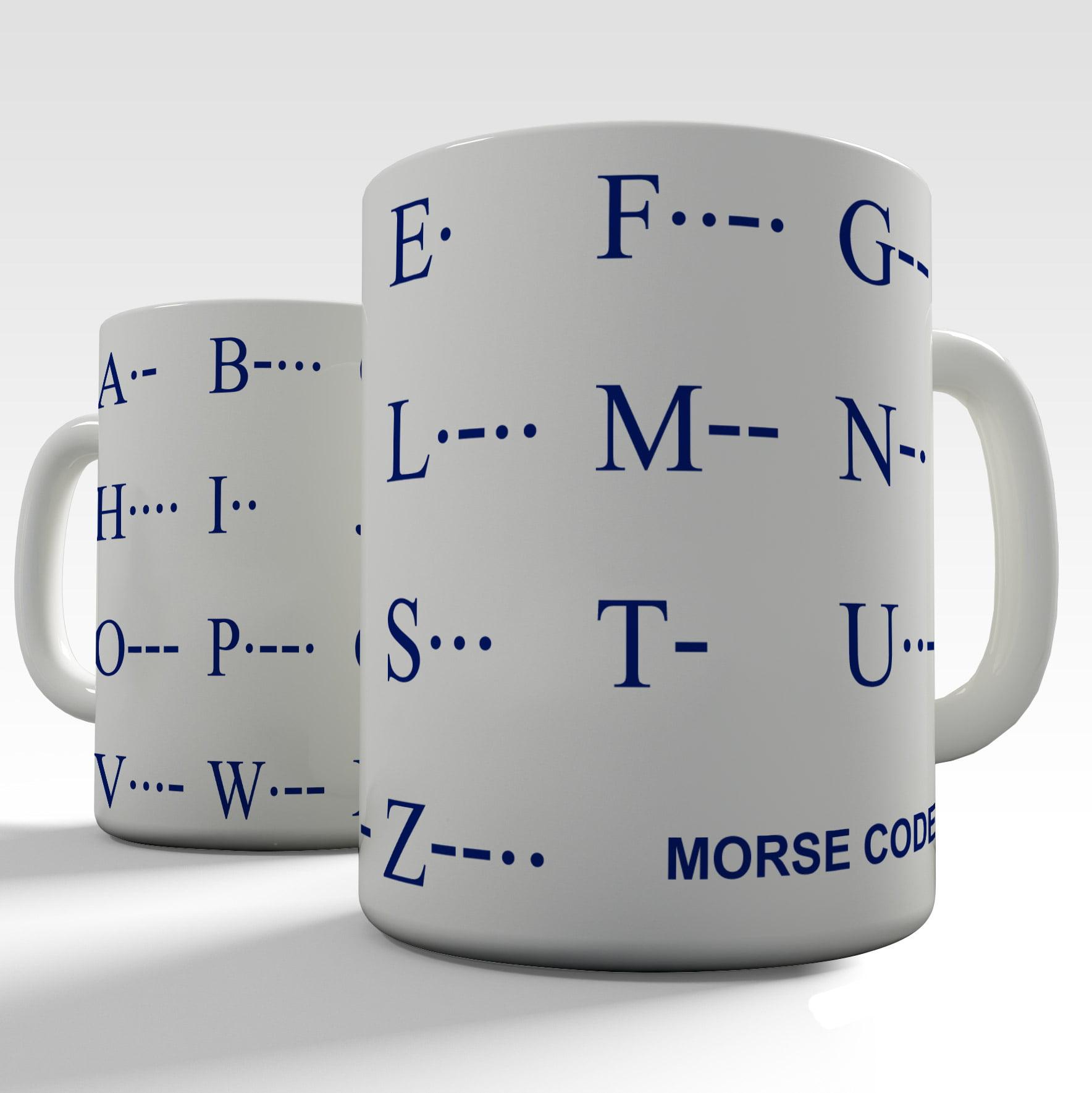 Educational Mugs Morse Code Alphabet in Fine Bone China by McLaggan Smith Mugs by Ink Rocks