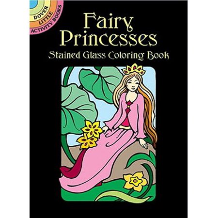 Fairy Princesses Stained Glass Coloring Book - Princess Halloween Coloring Sheets