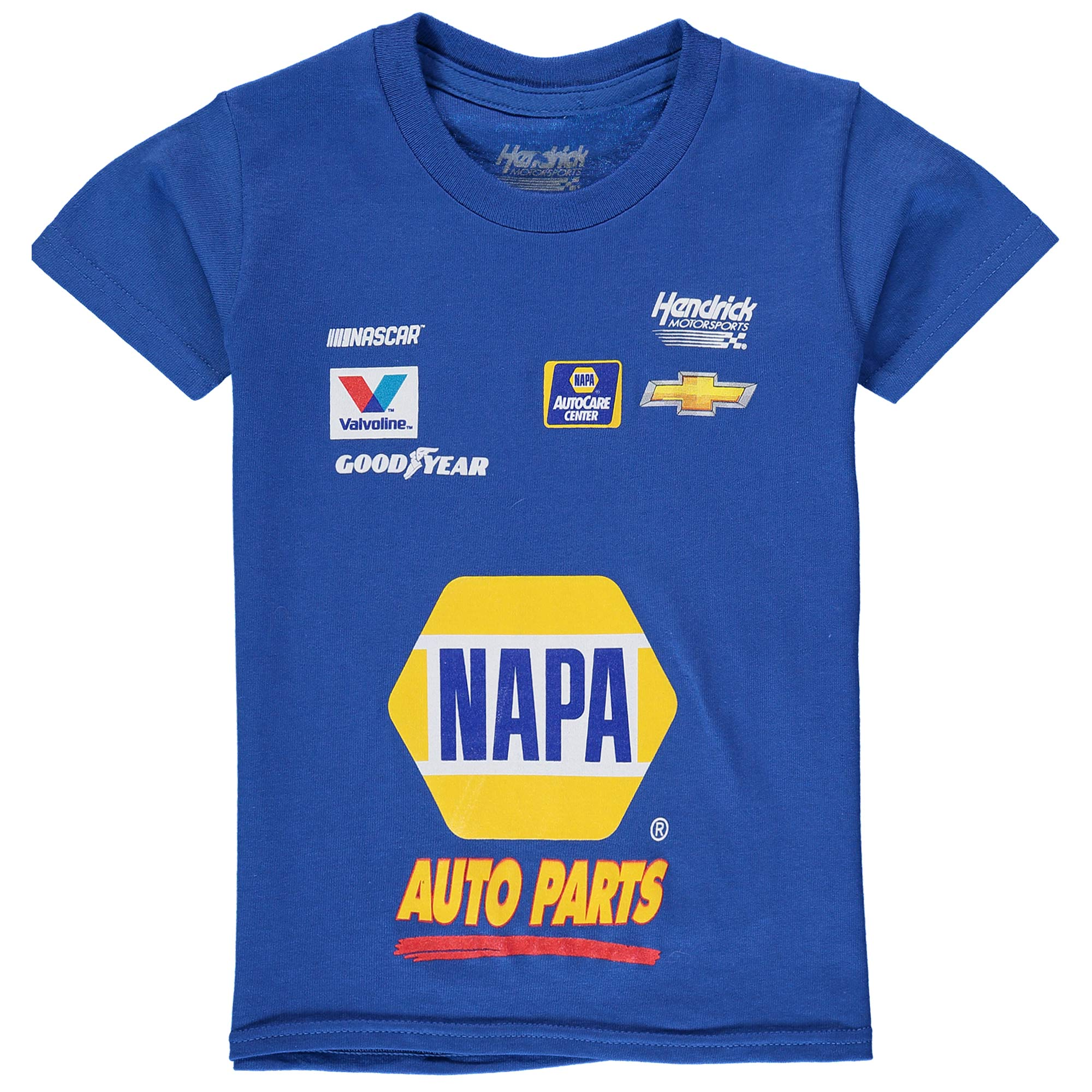 Chase Elliott Hendrick Motorsports Team Collection Youth NAPA Uniform T-Shirt - Royal