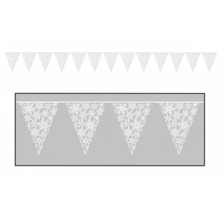 Snowflake Pennant Banner  Pack Of 12