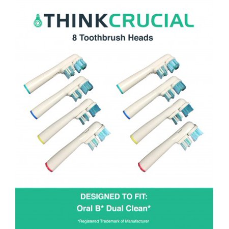8 Oral-B Dual Clean Electric Toothbrush Head Replacements, Part # SB-417A