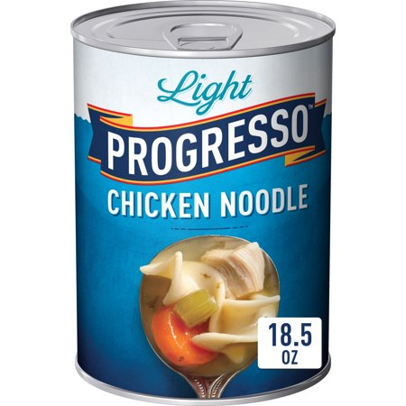 (3 Pack) Progresso Soup, Low Fat Light, Chicken Noodle Soup, 18.5 oz Can