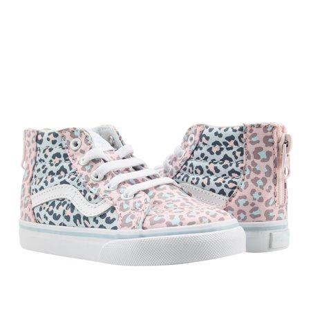 23b159ec282b58 Vans - Vans Sk8-Hi Zip Leopard Pink Blue Hi Top Toddler Kids Sneakers  VN0A32R3Q7P - Walmart.com