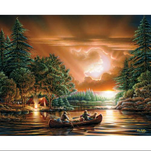 "Jigsaw Puzzle Terry Redlin 1000 Pieces 24""X30""-Evening Rendezvous"
