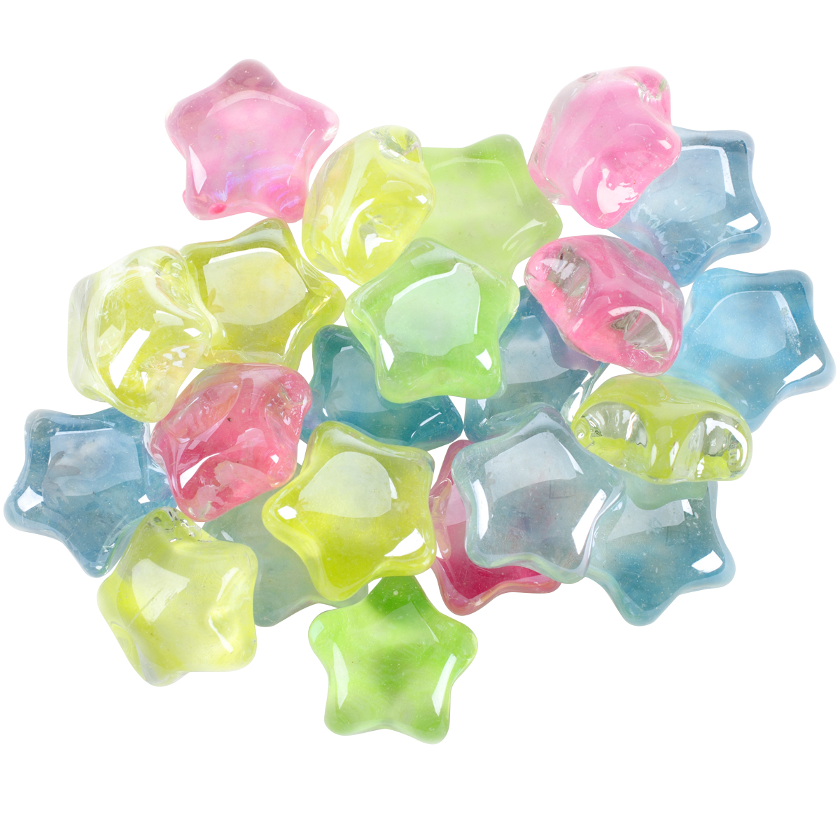 Midwest Products Mosaic Glass Stars Value Pack, 12 oz, Glow In The Dark