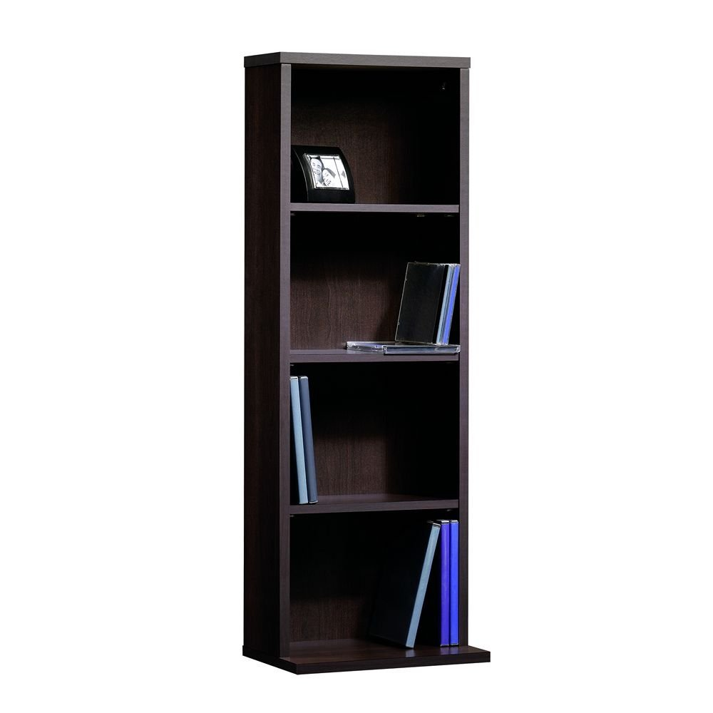 Beginnings Multimedia Storage Tower, 12-Inch,Cinnamon Cherry, Holds 80 DVDs or 100 CDs By Sauder by