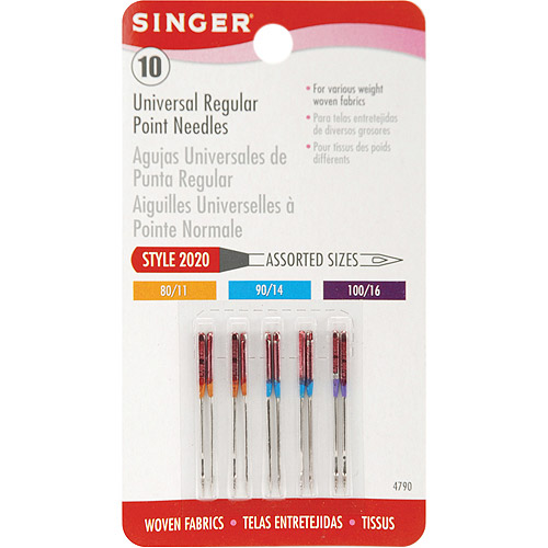 Singer Universal Regular Point Sewing Machine Needles, 10/Pkg