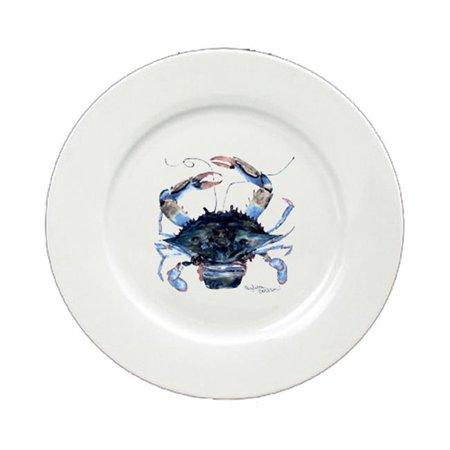 Female Blue Crab Round Ceramic White Salad Plate 8322-DPW