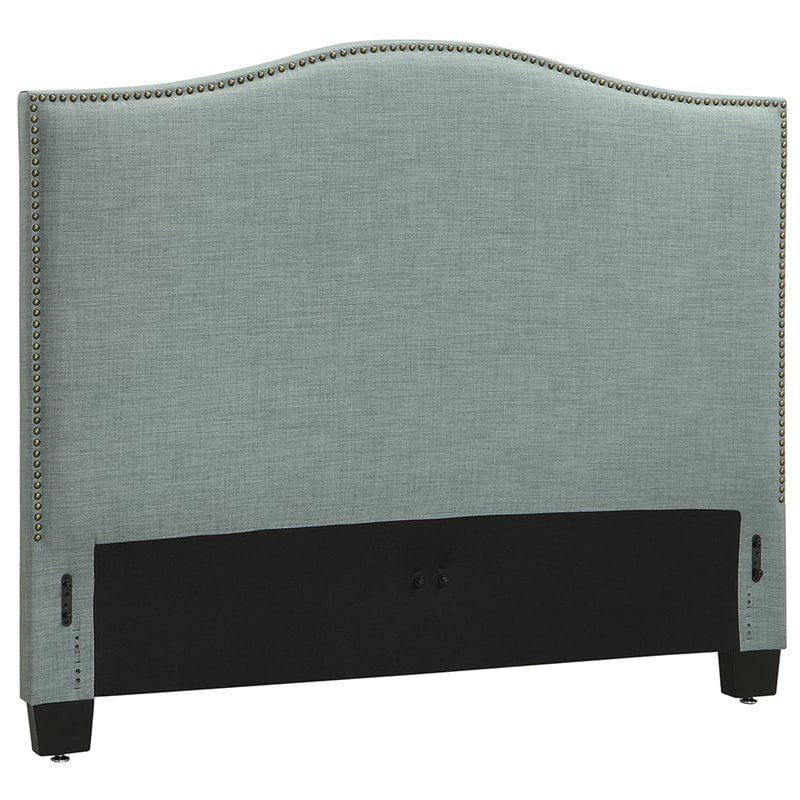 Modus Geneva Camelback Full Panel Headboard in Bluebird by