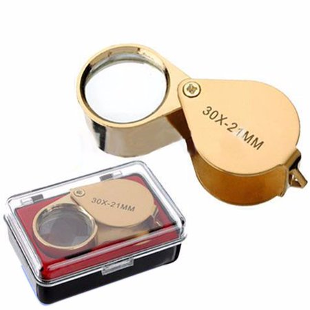 Illuminated 40 X 25mm Lens Jeweler Loupe Eye Magnifier Magnifying Glass With