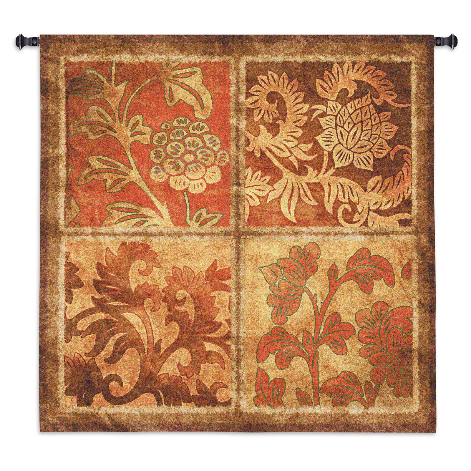 Fine Art Tapestries Botanical Scroll Wall Tapestry by Supplier Generic