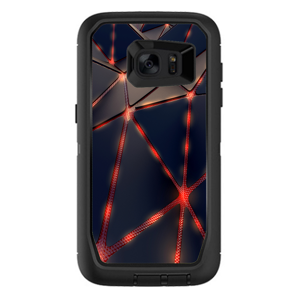 Skins Decals For Otterbox Defender Samsung Galaxy S7 Edge Case / Retro Abstract Art