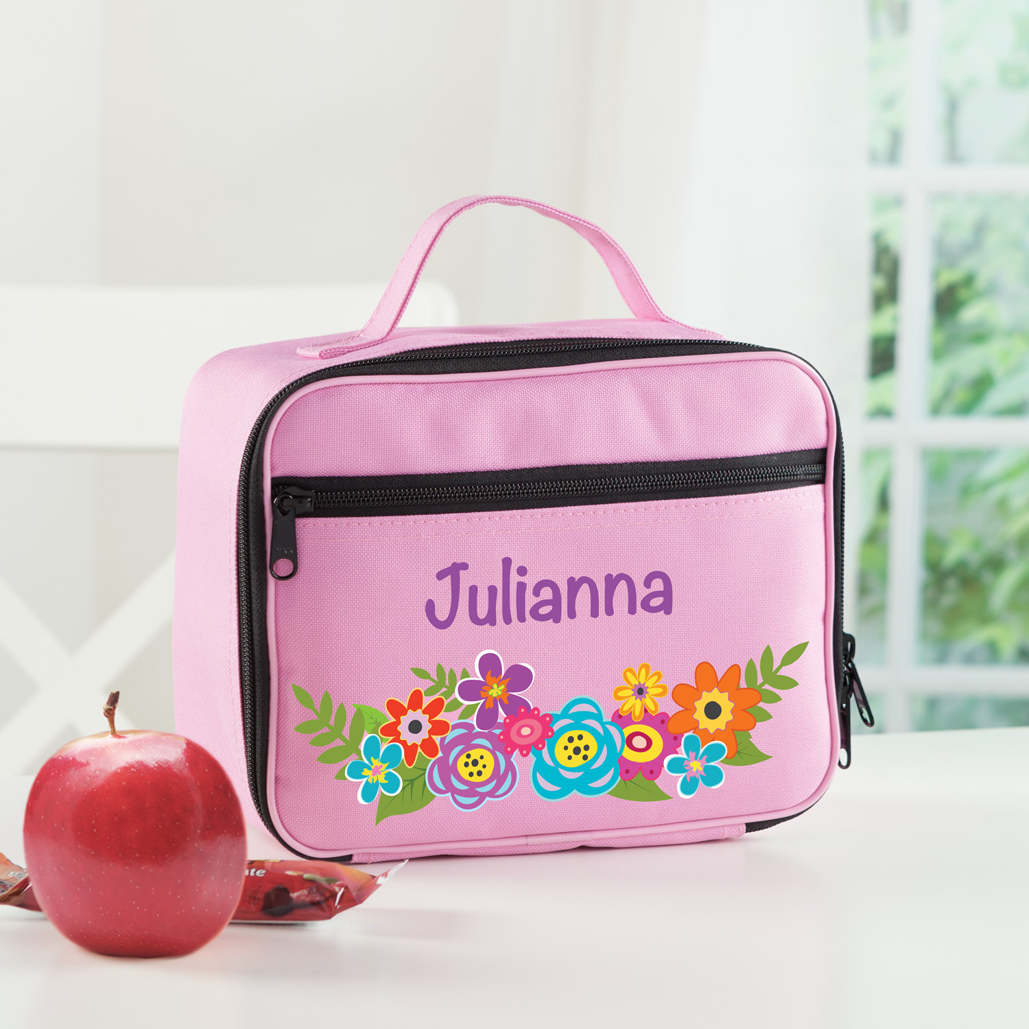Unicorn Flowers Personalized Lunch Bag