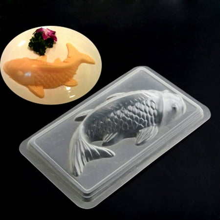 Holiday Clearance 2PCS Diy 3D Koi Fish Cake Chocolate Mould Jelly Handmade - Fish Chocolate Mold