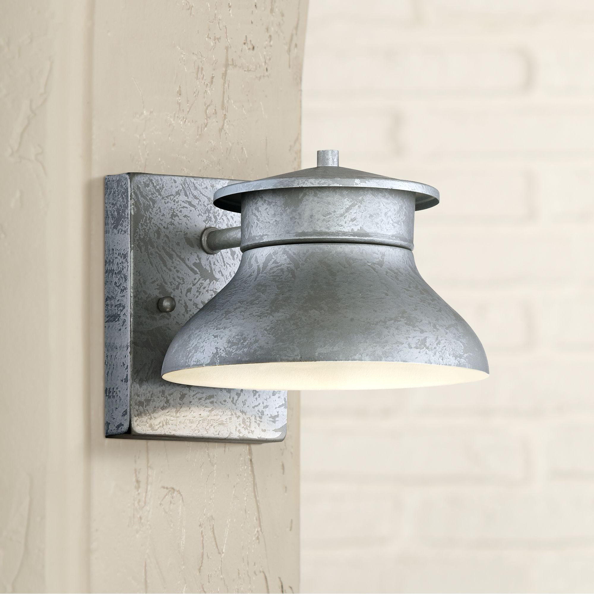 "John Timberland Danbury 5"" High Galvanized Steel Led Outdoor Wall Light"