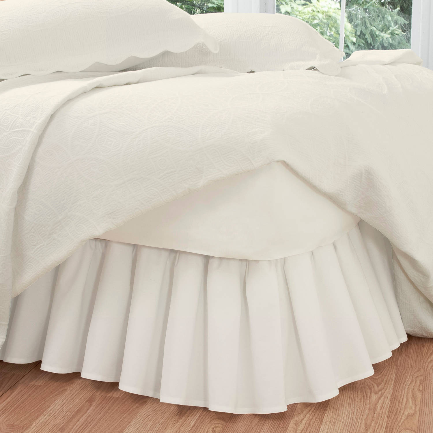 Levinsohn Ruffled Poplin Bedding Bed Skirt