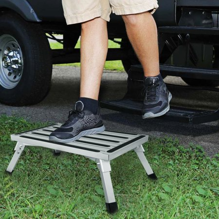 8 86 In High Aluminum Folding Platform Step Rv Step Stool