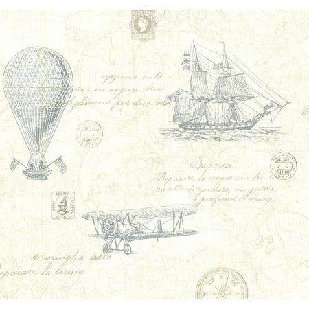 Explorer Teal Antique Map (Antique Wallpaper)