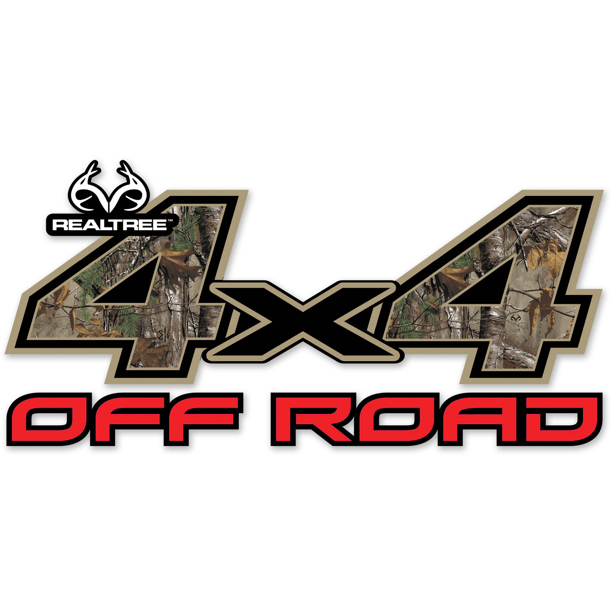 "Realtree 4X4 Off Road Contour-Cut Decal Includes Two 6.25"" x 13.25"" Decals"