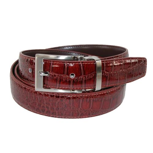 ctm 174 size 54 mens big leather croc print dress belt