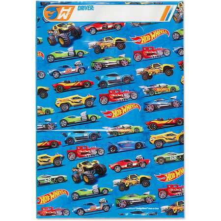 Hot Wheels Party Favor Treat Bags, 8ct - Hot Wheels Party Supplies
