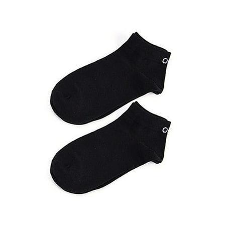 1 Pair Socks Unisex Men Women Soft Breathable Solid Cotton Blend HITC