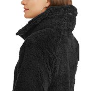 fcdcc83a8 Climate Concepts Women's Fluffy Fleece Full Zip Jacket with Convertible  Collar