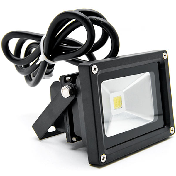 Biltek 10W LED Flood Light Cool White High Power Outdoor Spotlights Industrial Lighting Home Security Lighting Outdoor House Business Surveillance Safety Wall Washer High Building Billboard Garden