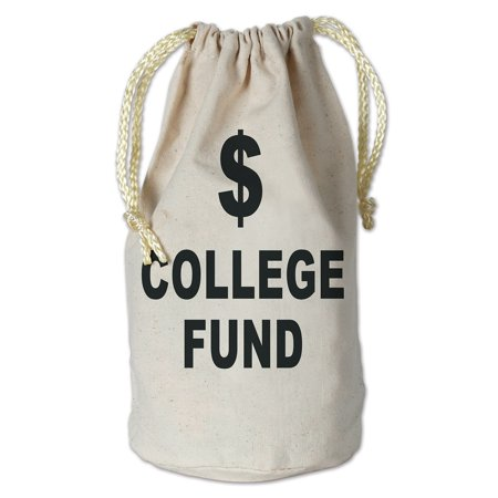 College Graduation Favors (Club Pack of 12 College Fund Money Bag with Drawstring Graduation Party Favor Accessories)