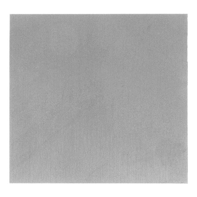 Lillypilly Anodized Aluminum Square Metal Sheet - Silver 3x3 Inch
