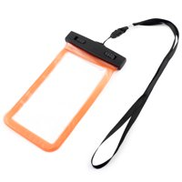 Unique BargainsUniversal PVC Water Resistant Protector Bag Dry Pouch Orange for 5.5 Inch Phone