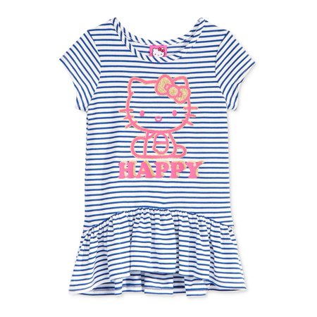 evy of California Girls Hello Kitty Striped Graphic T-Shirt