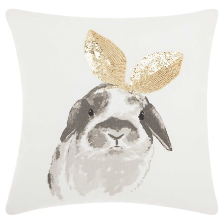 Glitter Bunny Ears Pillow